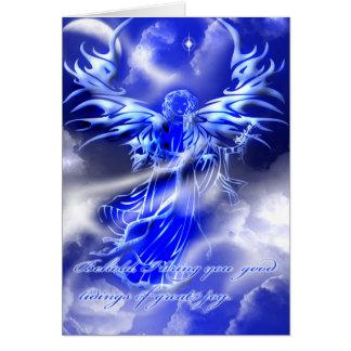 Carte de voeux de Noël d'ange