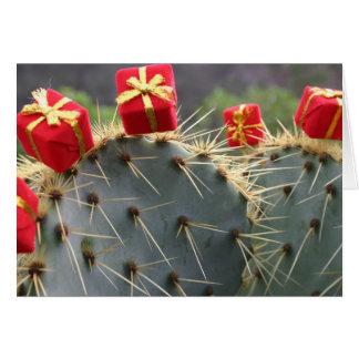 Carte de voeux de Noël de cactus