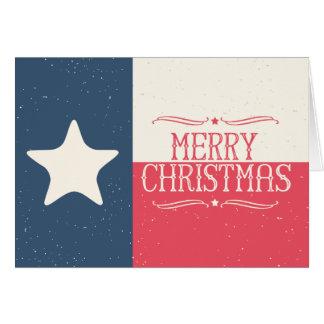 Carte de voeux de Noël de drapeau du Texas