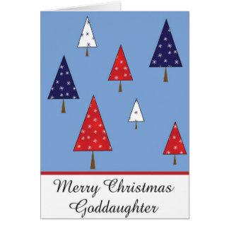 Carte de voeux de Noël de filleule