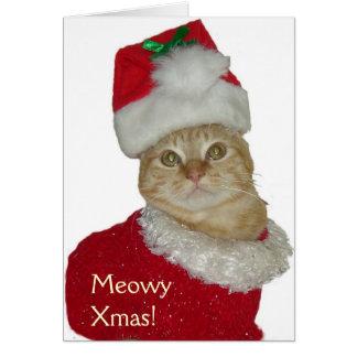 """Carte de voeux """"de Noël de Meowy"""""""
