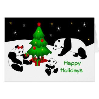 Carte de voeux de Noël de panda