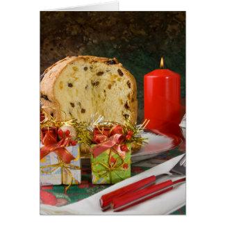Carte de voeux de Noël de Panettone