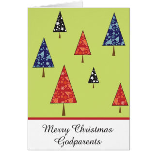 Carte de voeux de Noël de parrains