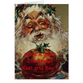 Carte de voeux de Noël de Père Noël