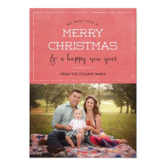 Carte de voeux de Noël de photo de Joyeux Noël Carton D'invitation 12,7 Cm X 17,78 Cm