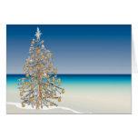 Carte de voeux de Noël de plage