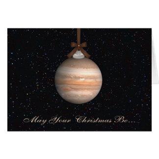 Carte de voeux de Noël de planète de Jupiter