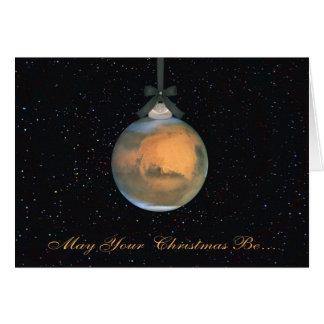 Carte de voeux de Noël de planète de Mars