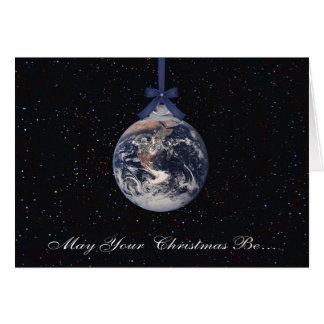 Carte de voeux de Noël de planètes de la terre