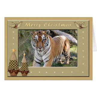 Carte de voeux de Noël de tigre de Bengale