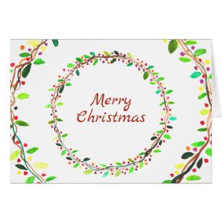 Carte de voeux de Noël de vacances de guirlande