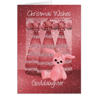 Carte de voeux de Noël d'étincelle de filleule