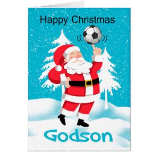 Carte de voeux de Noël du football/football de