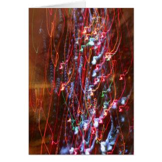 Carte de voeux de Noël - émeute de Noël de couleur