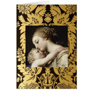 Carte de voeux de Noël Madonna et enfant