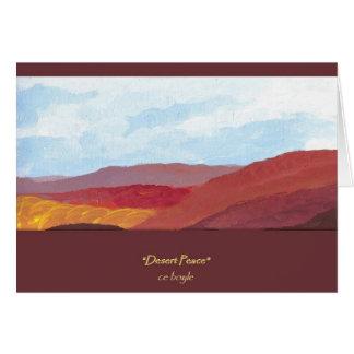 Carte de voeux de paix de désert
