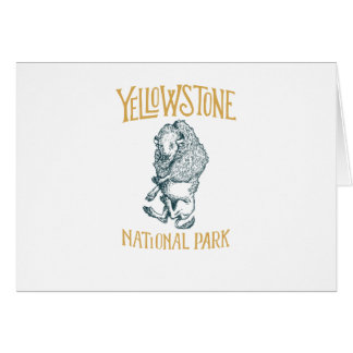 Carte de voeux de parc national de Yellowstone