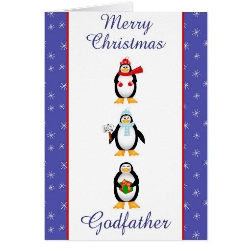 Carte de voeux de parrain de Noël