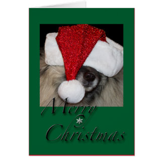 Carte de voeux de pattes de Père Noël