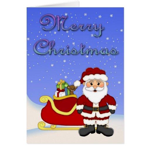 Carte de voeux de Père Noël de Joyeux Noël