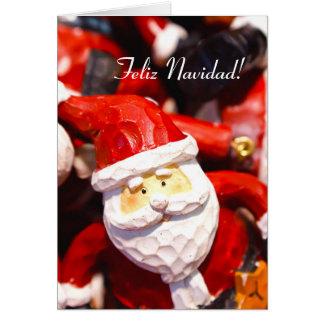 Carte de voeux de père Noël de Noël de Feliz Navid