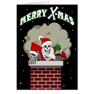 Carte de voeux de Père Noël d'os