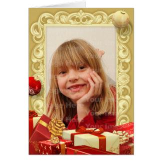 Carte de voeux de photo de cadeau et d'ornement