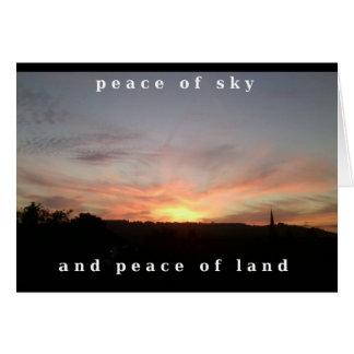 Carte de voeux de photo de coucher du soleil avec