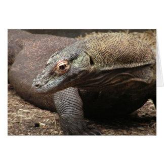 Carte de voeux de photo de dragon de Komodo