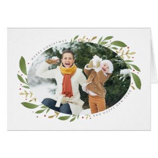 Carte de voeux de photo de Noël de brins d'hiver