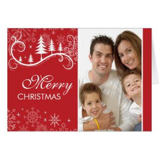 Carte de voeux de photo de Noël de remous de