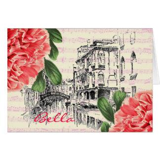 Carte de voeux de pivoine de Bella Italie