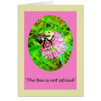 Carte de voeux de poème de nature d'abeille