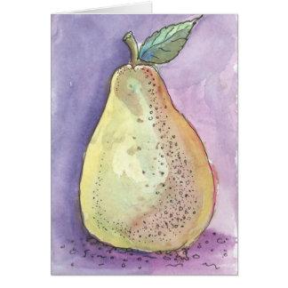 Carte de voeux de poire