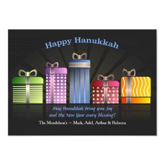 Carte de voeux de présents de Hanoukka Carton D'invitation 12,7 Cm X 17,78 Cm