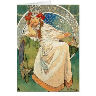 Carte de voeux de princesse Hyacinth d'Alphonse