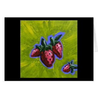 Carte de voeux de prisonnier de guerre de fraise
