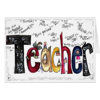 Carte de voeux de professeur