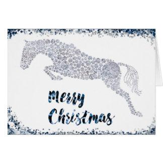 Carte de voeux de pullover d'argent de Joyeux Noël