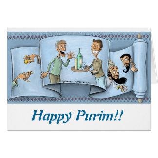 carte de voeux de purim