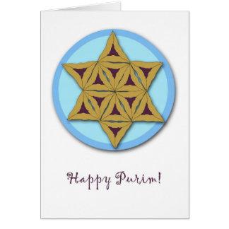 Carte de voeux de Purim, biscuits de Hamantaschen