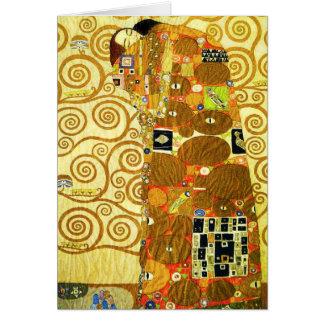 Carte de voeux de réalisation de Gustav Klimt