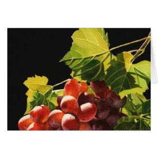 Carte de voeux de récolte de raisin