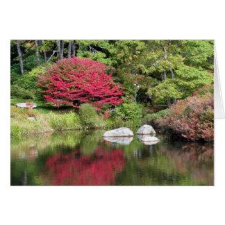 Carte de voeux de réflexions de jardin d'azalée