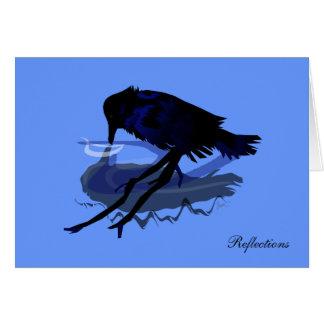 Carte de voeux de réflexions de Raven