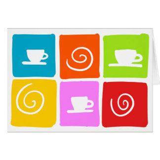 carte de voeux de remous de café