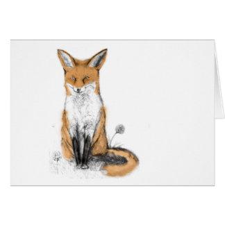 carte de voeux de renard