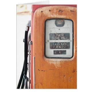 Carte de voeux de réservoir de gaz