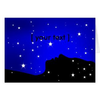 Carte de voeux de rêveur de nuit étoilée